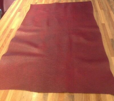 Large Piece Of Leather (50cmx90cmx1mm)BUGATTI RED Leathercraft/upholstery