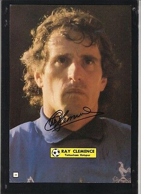 Signed photo of RAY CLEMENCE the Tottenham Hotspur footballer.
