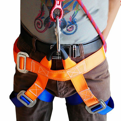 Harness Seat Belts Sitting Safety Outdoor Rock Crag Climbing Rappelling Equip H