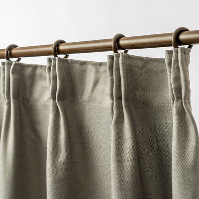 Blockout Pinch Pleat Linen Textured Curtain 230cm Drop 4 Colors 1 Panel/Bag