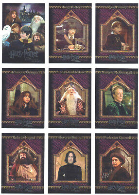 Harry Potter Sorcerer's Stone Complete 90 Card Set Silver Foil ONLY ONE ON EBAY