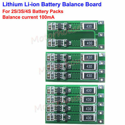 2S 3S 4S 18650 Li-ion Lithium Battery Cell Charger Module Balance Circuit Board