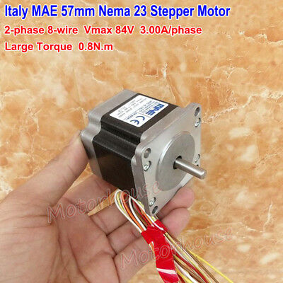 Italy MAE NEMA 23 84V 57mm 2-phase 8-wire Stepper Motor 1.8 Deg CNC 3D printer