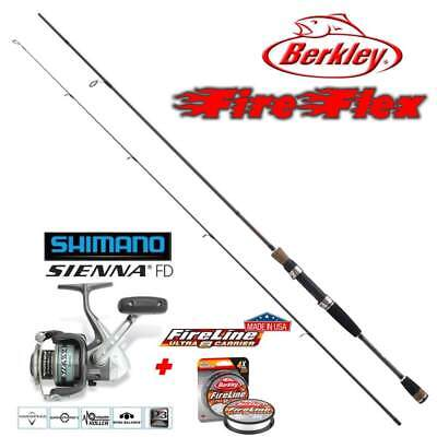 Set Berkley FireFlex Twitch Spin + Shimano Sienna 500 + NEW Fireline Ultra 8