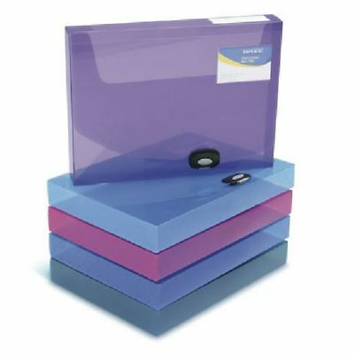 Rapesco A4 Rigid Wallet Box File 40mm Assorted (Pack of 5) 1048 [HT00031]