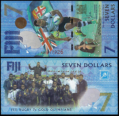 Fiji 7 Dollars (Pnew) 2017 Commemorative Issue Unc