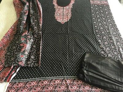 Pakistani designer  Cotton Cambric 100% UN-STITCHED SHALWAR KAMEEZ SUIT Asian