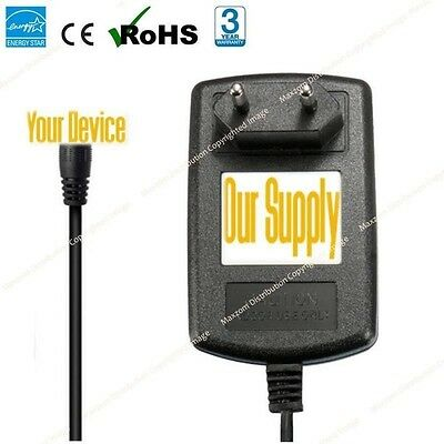 12V Mains AC adapter Charger Power Supply for Polaroid PDU-0824 DVD Player EU