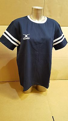 Clearance Line- New Gilbert Rugby Women's Cotton Tee Shirt- Navy- 2XL