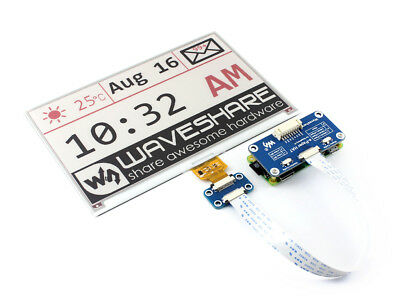 Waveshare 7.5inch E-Ink Display e paper HAT for Raspberry Pi RPi SPI Interface