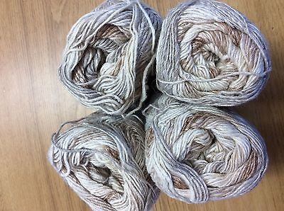 NORO SILK GARDEN SOCK YARN  (  SHADE S269 Lot C )100g BALLS ( 300metres )