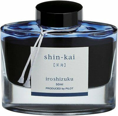 Pilot Iroshizuku Shin-kai (Deep Sea) INK-50-SNK Fountain Pen Ink - 50 ml Bottle