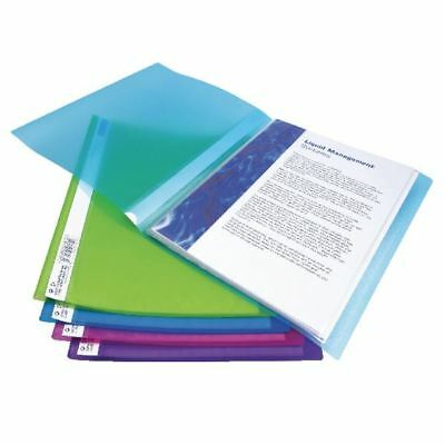 Rapesco A4 Flexi Display Book 20 Pocket Bright Assorted (Pack of 10) [HT00535]