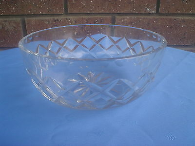Edinburgh Crystal Bowl Diamond Cut Made In Scotland
