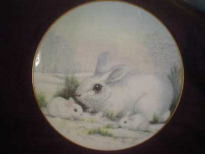 Crown Staffordshire Tranquility Plate Wildlife In Winter Series