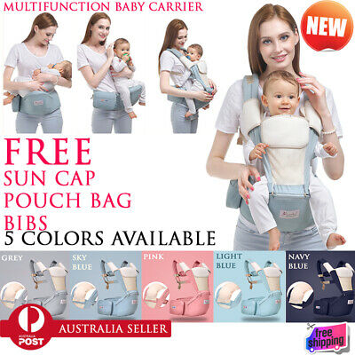3 in 1 Baby Newborn Infant Toddler Ergonomic Carrier Front Back Hip 5 Colors