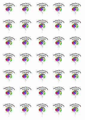 35x Personalised Thank You For Coming To My Party Bag Stickers 30mm Llama 076