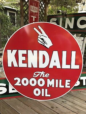 "Antique Vintage Old Style 40"" Kendall Sign Great Size!"