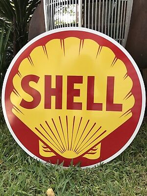 "Antique Vintage Old Style 24"" Round Shell Sign"