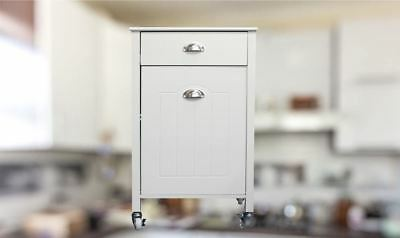 Twin Bin Kitchen Trolley with drawer