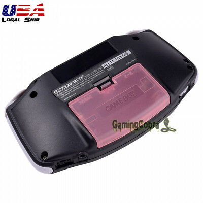 Clear Pink Battery Door Cover Replacement Part for Nintendo Game Boy Advance GBA