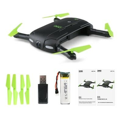 UAV D5 Selfie Drone With Camera Foldable Pocket Rc Phone Control Helicopter FPV