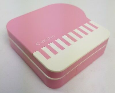 Pink Piano Coloured Contact Lens Lenses Travel Kit - Mirror - Case - Tweezers