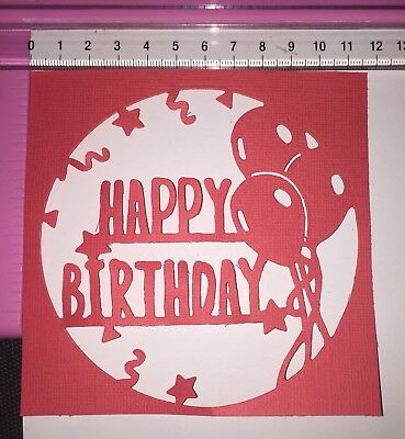 Die Cuts! 2 Pc 'Happy Birthday' Card Toppers Celebration Party Balloons Balloon