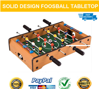 Foosball Tabletop Soccer Table Football Game Set Indoor Family Kids Play Wooden