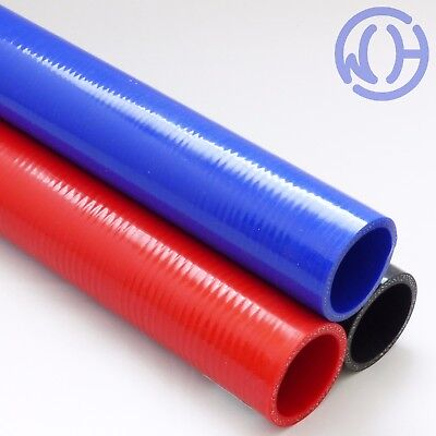 One Metre Straight Reinforced Silicone Hose Water Air Boost Pipes - 1000mm piece