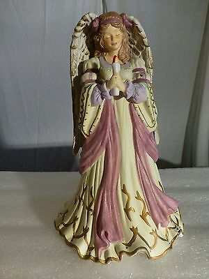 "Ceramic Angel Large with Candle - Musical 11"" in Original box  ABC Distributing"