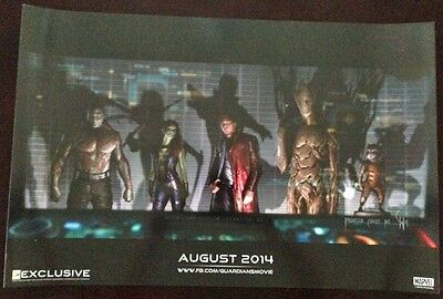 GUARDIANS OF THE GALAXY -13x20 Original Promo Movie Poster MINT SDCC 2013 MARVEL