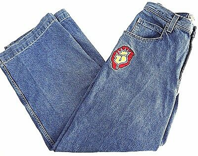 VINTAGE 90s JNCO JESTER jeans mens 34x32 denim RAVER skater MADE IN USA pipes