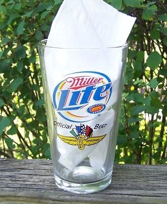 Rare Miller Lite Official Beer Indianapolis Motor Speedway Glass, NICE ONE !!!