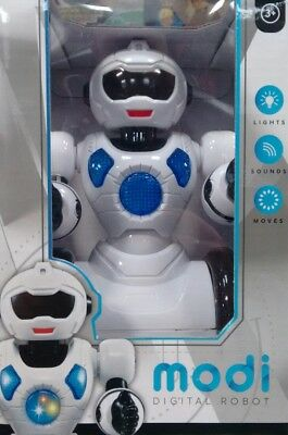 MODI DIGITAL ROBOT Toy for Child 3+ with lights, sound and movement. BRAND NEW