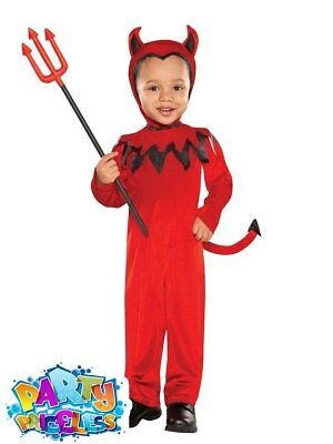 Cute Baby Toddler Red Devil Costume Halloween Fancy Dress Outfit Age 1 - 4