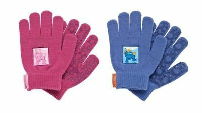 Cottage Craft Children's Magic Riding Gloves - Pink / Blue - CLEARANCE