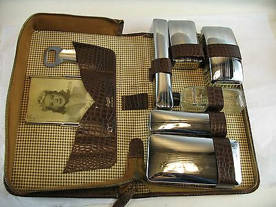 Travel case with accessories genuine leather case  AUSCO