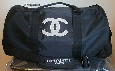 Chanel Duffel Travel Gym Shoulder VIp Gift Bag With Removable Strap New