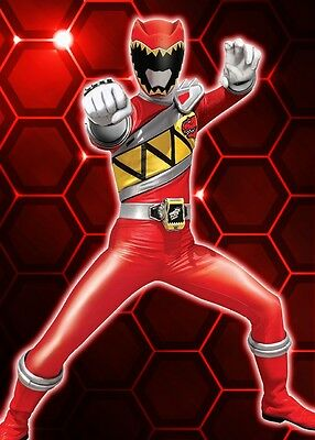 Unofficial RED RANGER DINO CHARGE (12) *glossy A4* print Poster Power Rangers