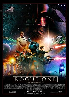 Unofficial Star Wars ROGUE ONE (43) *A3* print Poster - last jedi Darth Vader