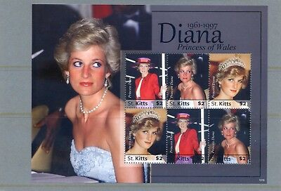 St Kitts Princess Diana stamp sheet 2010 mint (6stamps)