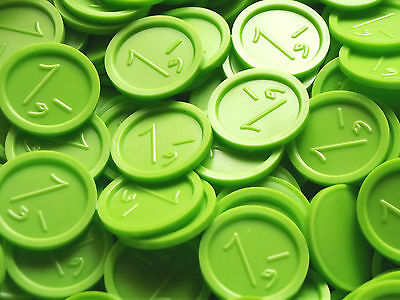 Deposit Coins, Tokens, Beverage with Embossing 1 Green Amount Selectable