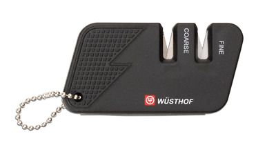 Wusthof Mini 2 Stage Pull Through Knife Sharpener Black or Red 4342