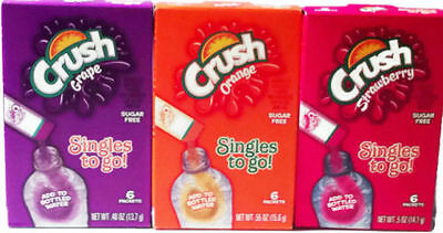 Singles to go drink mix various Crush Jolly Rancher kool aid Welch`s you choose