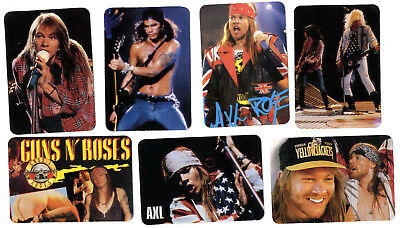 GUNS N` ROSES / Axl Rose- 12 PORTUGAL pocket CALENDAR CARDS 1996 complete set
