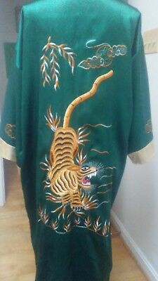 Dragon Embroidered Reversable Robe