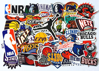 32 pcs NBA Team Logo Stickers Graffiti Skateboard Laptop Luggage Sticker Decals