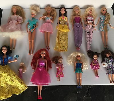 Lot Of 14 Old Barbie Dolls & Others