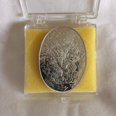 1985 Endymion Oval .999 Silver Doubloon 28 gms